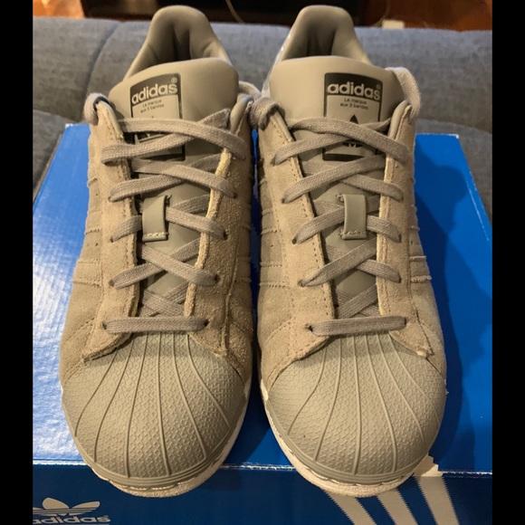 442a49b9242f2 adidas Shoes | Brand New Originals Shell Toe Grey Camo J | Poshmark